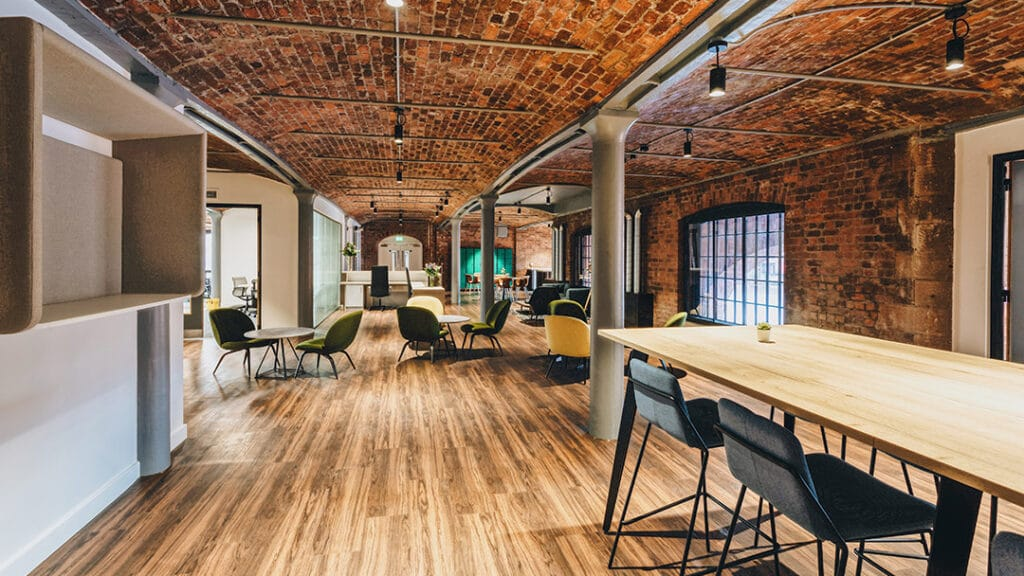Acadia Group marketing agency communal office space at the Royal Albert Dock in Liverpool