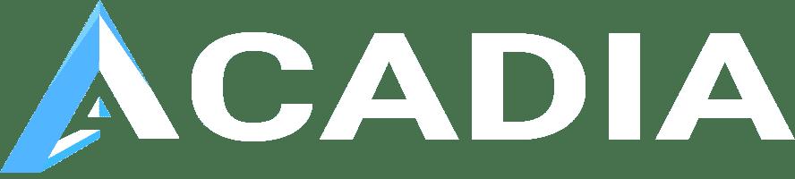 White Acadia Logo